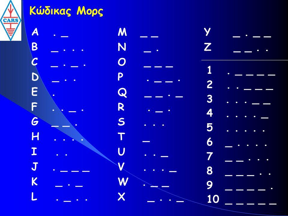 Κώδικας Μορς A. _ B _... C _. _. D _.. E. F.. _. G _ _. H.... I.. J. _ _ _ K _. _ L. _.. M _ _ N _. O _ _ _ P. _ _. Q _ _. _ R. _. S... T _ U.. _ V...