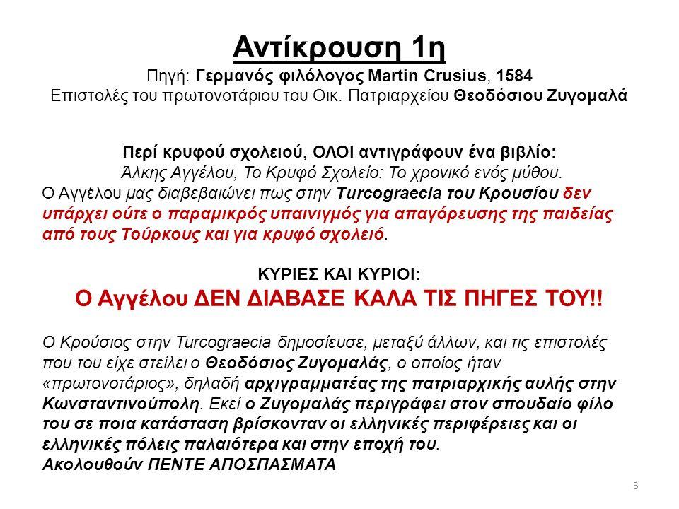 Αντίκρουση 26 η Πηγή: Γάλλος περιηγητής της Ηπείρου Rene Puaux, 1913 «Δυστυχισμένη Βόρειος Ήπειρος» «Κανένα βιβλίο τυπωμένο στην Αθήνα δεν γινόταν δεκτό στα σχολεία της Ηπείρου.