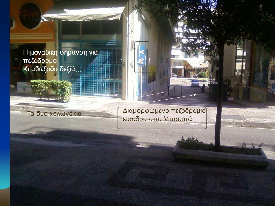 •Η οδός της κυρίας εισόδου του πεζόδρομου ονομάζεται οδός Αλέκου Παναγούλη.