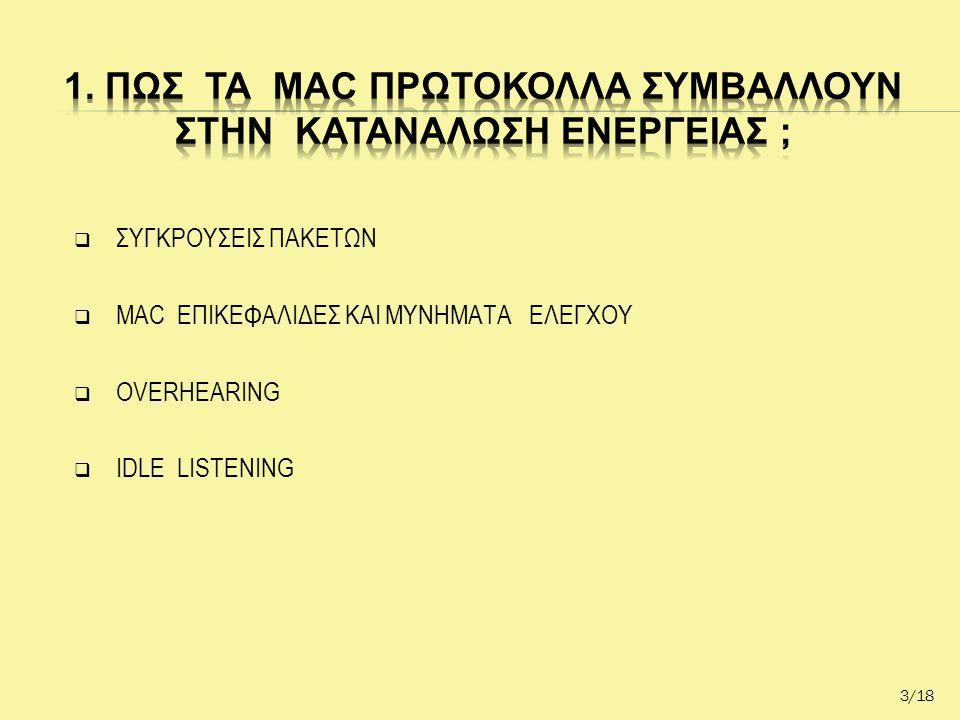  ΣΥΓΚΡΟΥΣΕΙΣ ΠΑΚΕΤΩΝ  MAC ΕΠΙΚΕΦΑΛΙΔΕΣ KAI ΜΥΝΗΜΑΤΑ ΕΛΕΓΧΟΥ  OVERHEARING  IDLE LISTENING 3/18