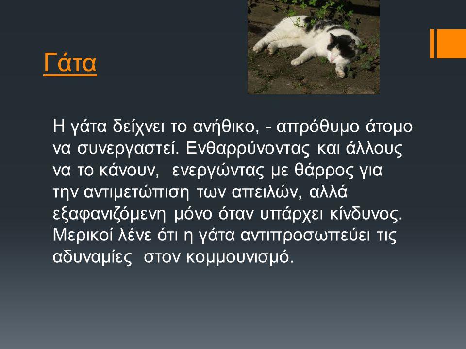 Πρόβατα Τα πρόβατα δείχνουν την χαζή όψη του ζώου στη μέση του ρωσικού εμφυλίου πολέμου, δηλ. οι μάζες κατά τη διάρκεια της βασιλείας του Στάλιν. («Τέ
