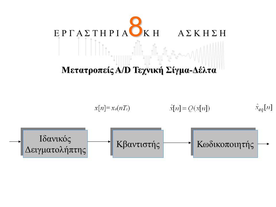 8 Ε Ρ Γ Α Σ Τ Η Ρ Ι Α 8 Κ Η Α Σ Κ Η Σ Η Ιδανικός Δειγματολήπτης Ιδανικός Δειγματολήπτης Κβαντιστής Κωδικοποιητής x[n]= x a (nT s ) Μετατροπείς Α/D Τεχ