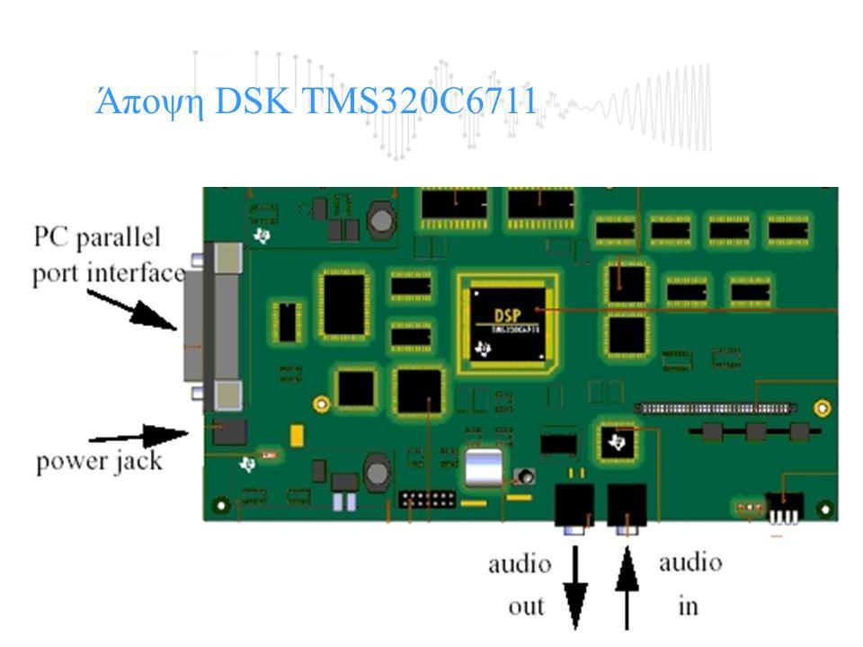 Άποψη της Αναπτυξιακής κάρτας DSP Starter Kit (DSK). Άποψη DSK TMS320C6711