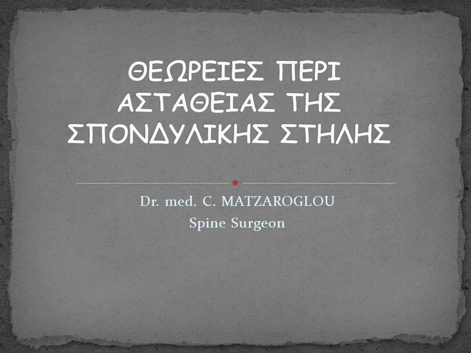 Dr. med. C. MATZAROGLOU Spine Surgeon