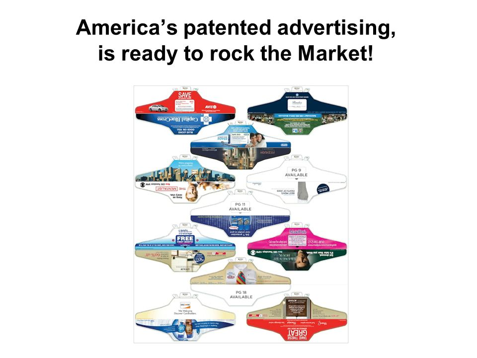 America's patented advertising, is ready to rock the Market!