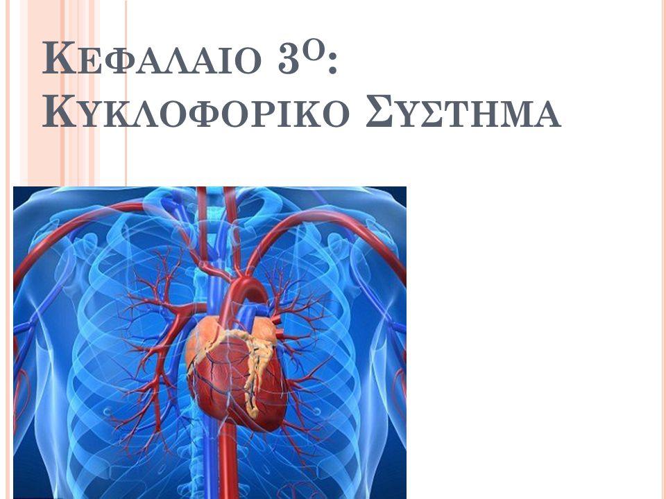 Λ ΕΙΤΟΥΡΓΙΑ ΕΡΥΘΡΩΝ Με τη βοήθεια της αιμοσφαιρίνης (στη μορφή της οξυαιμοσφαιρίνης: λαμπερό κόκκινο χρώμα) το οξυγόνο μεταφέρεται στα τριχοειδή, όπου αποδεσμεύεται από αυτή και διαχέεται προς τα κύτταρα Αμέσως μετά, δεσμεύεται ένα μέρος του CO 2 (από μεταβολισμό κυττάρων: σκούρο κόκκινο χρώμα) – το υπόλοιπο διαλύεται στο πλάσμα (όξινα ανθρακικά ανιόντα) – μεταφέρεται και με τις δύο μορφές στους πνεύμονες και αποβάλλεται ως CO 2 32