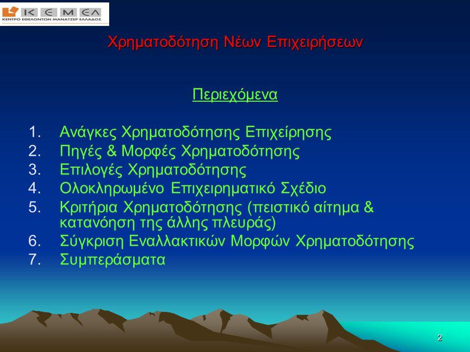 33 Χρηματοδότηση Νέων Επιχειρήσεων 6.