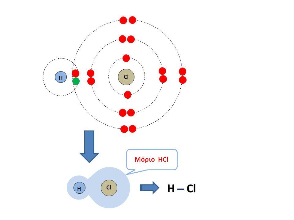 H Η Η Μόριο HCl