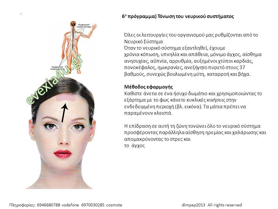 Όλες οι λειτουργίες του οργανισμού μας ρυθμίζονται από το Νευρικό Σύστημα Όταν το νευρικό σύστημα εξαντληθεί, έχουμε χρόνια κόπωση, υπνηλία και απάθει