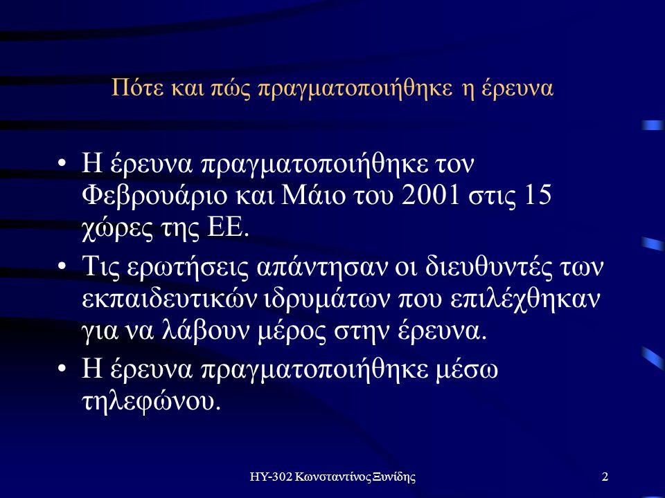 ΗΥ-302 Κωνσταντίνος Ξυνίδης13 Σελίδα στο διαδίκτυo;