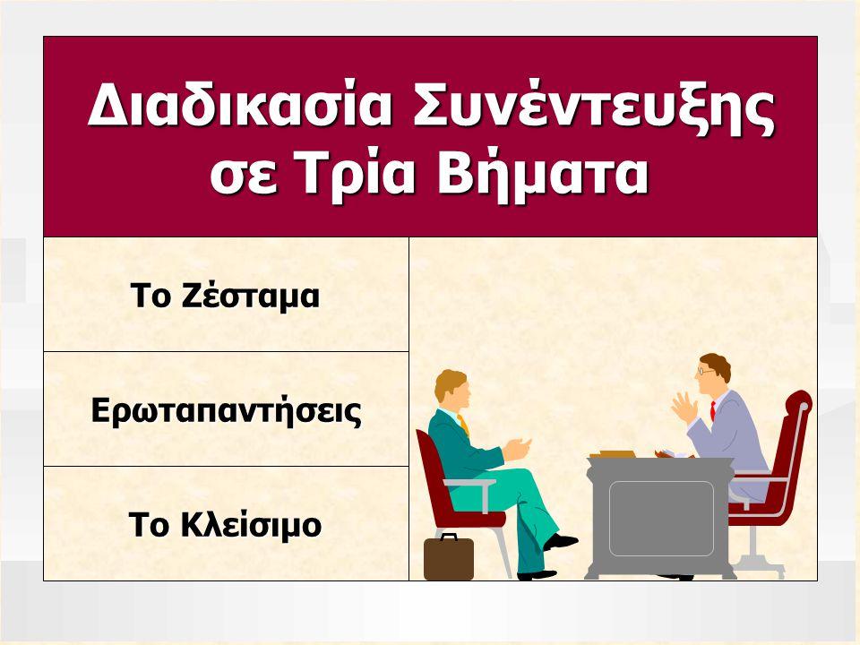 Το Ζέσταμα Ερωταπαντήσεις Το Κλείσιμο Διαδικασία Συνέντευξης σε Τρία Βήματα