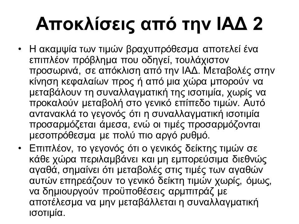 Δείκτες ονομαστικής και πραγματικής σταθμισμένης συναλλαγματικής ισοτιμίας της Ελλάδος (ετήσιες εκατοστιαίες μεταβολές μέσου επιπέδου έτους)
