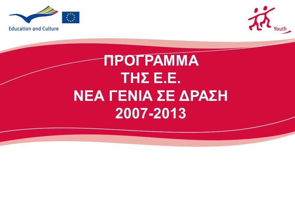 2 Προτεραιότητες του Προγράμματος Κύριες  Έννοια του Ευρωπαίου πολίτη  Συμμέτοχη των νέων  Πολυπολιτισμικότητα  Ένταξη ατόμων με λιγότερες ευκαιρίες Ετήσιες (2012)  Καταπολέμηση της ανεργίας των νέων  Καταπολέμηση της φτώχειας και της περιθωριοποίησης  Ενίσχυση του πνεύματος της πρωτοβουλίας, της δημιουργικότητας και της επιχειρηματικότητας  Αντιμετώπιση των παγκόσμιων περιβαλλοντικών αλλαγών και της κλιματικής αλλαγής
