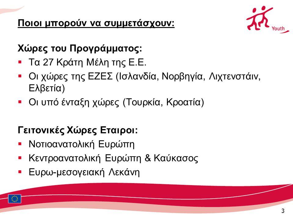 3 Ποιοι μπορούν να συμμετάσχουν: Χώρες του Προγράμματος:  Τα 27 Κράτη Μέλη της Ε.Ε.