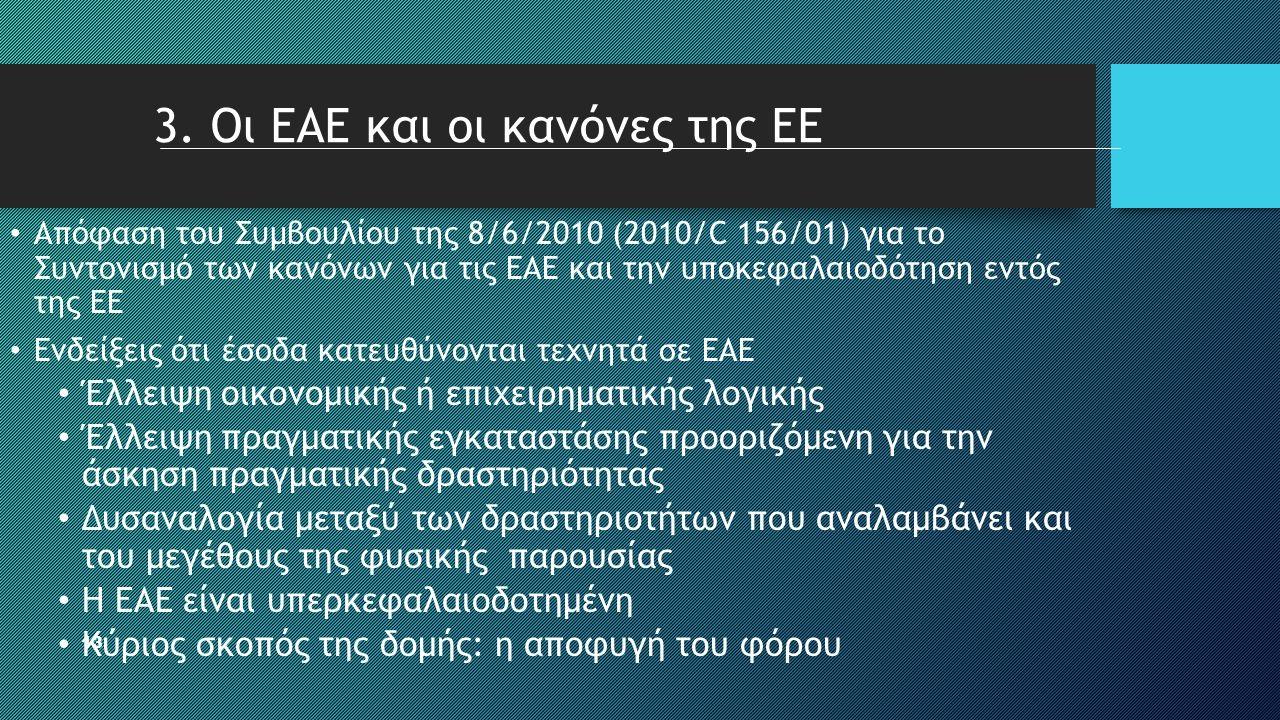 13 • Απόφαση του Συμβουλίου της 8/6/2010 (2010/C 156/01) για το Συντονισμό των κανόνων για τις ΕΑΕ και την υποκεφαλαιοδότηση εντός της ΕΕ • Ενδείξεις