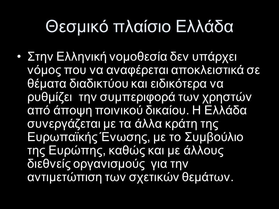 Θεσμικό πλαίσιο Ελλάδα (2) •Ο Ν.