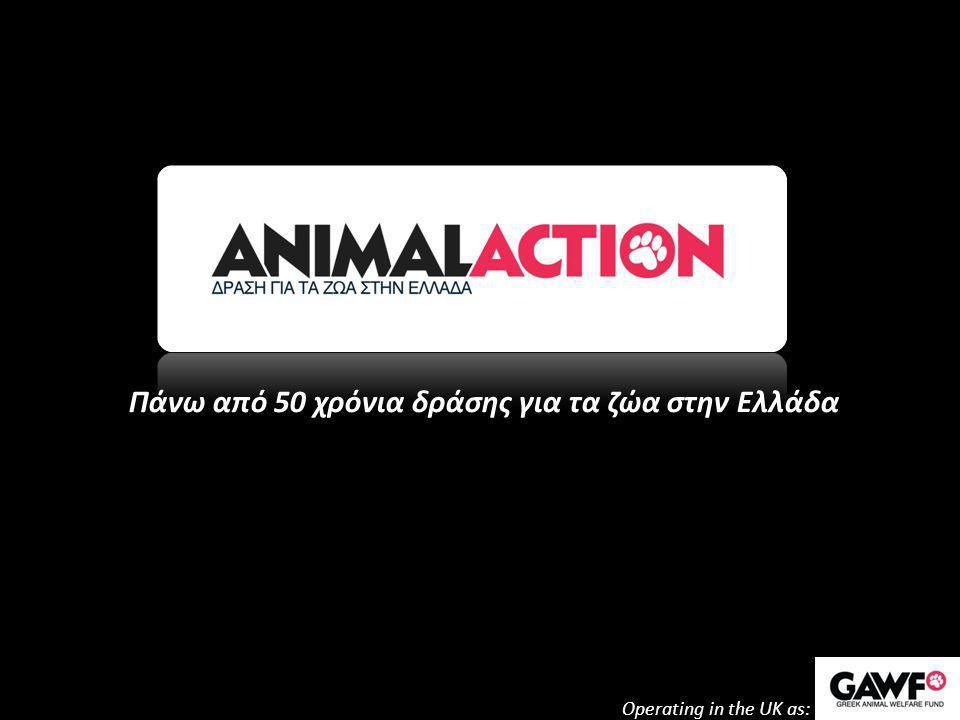 Πάνω από 50 χρόνια δράσης για τα ζώα στην Ελλάδα Operating in the UK as: