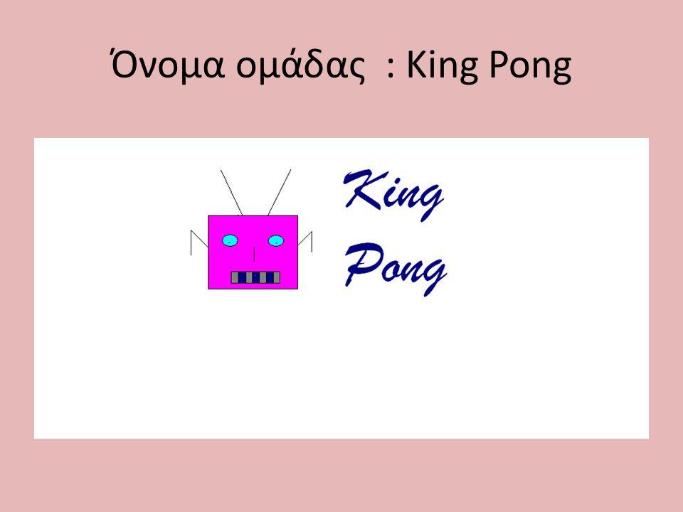 Όνομα ομάδας : Κing Pong
