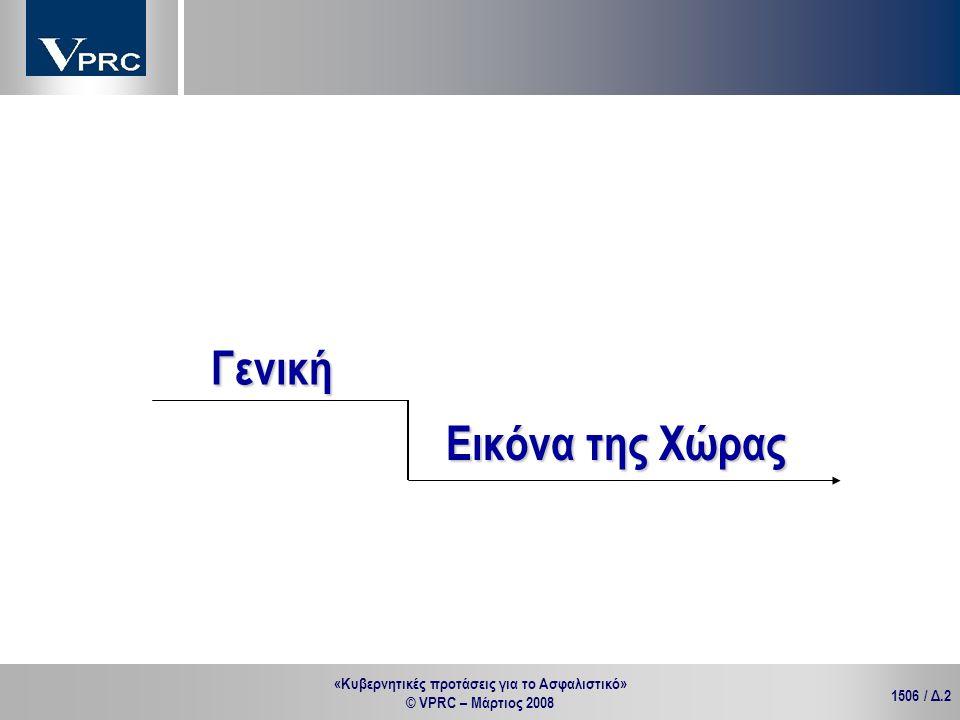 «Κυβερνητικές προτάσεις για το Ασφαλιστικό» © VPRC – Μάρτιος 2008 1506 / Δ.2 Γενική Εικόνα της Χώρας
