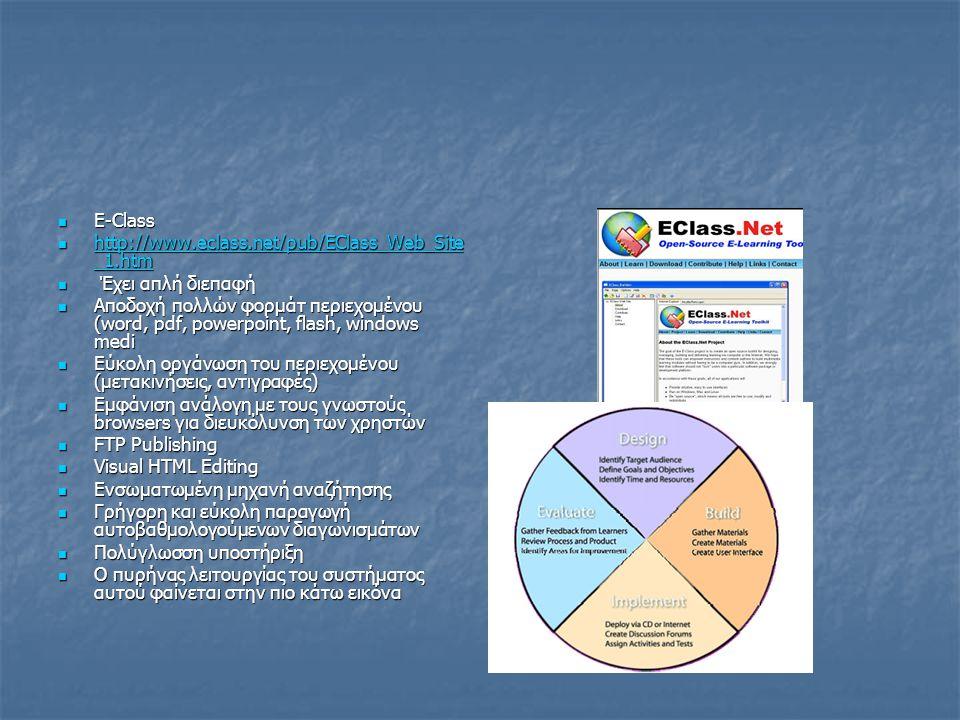  E-Class  http://www.eclass.net/pub/EClass_Web_Site _1.htm http://www.eclass.net/pub/EClass_Web_Site _1.htm http://www.eclass.net/pub/EClass_Web_Sit