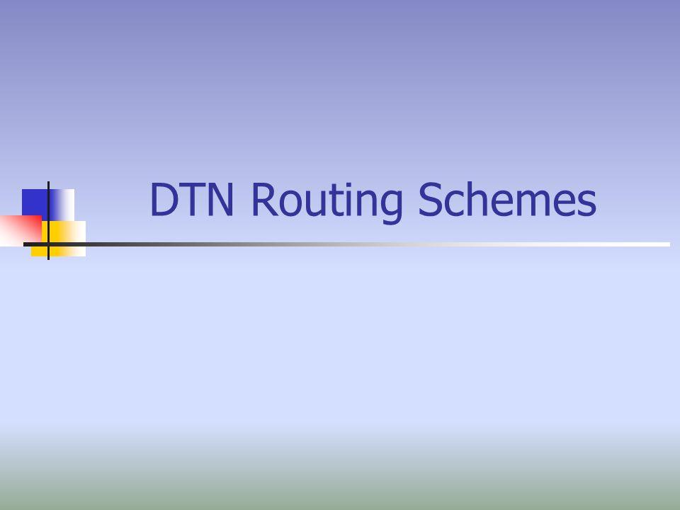 2 Εφαρμογές Delay Tolerant Networks Η δρομολόγηση στα Delay Tolerant Networks είναι ζωτικής σημασίας.