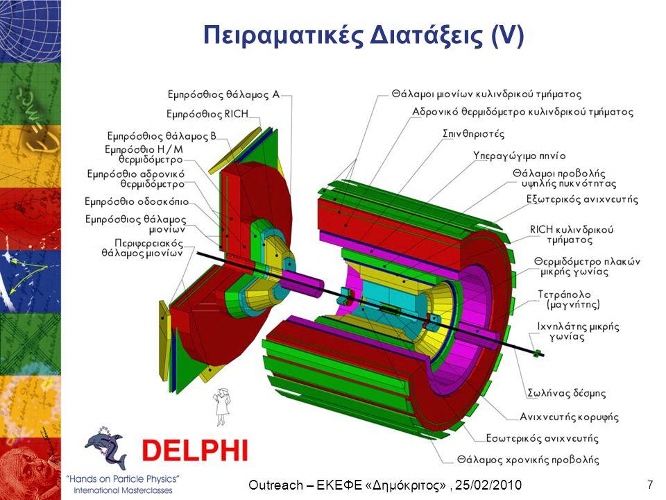 Outreach – ΕΚΕΦΕ «Δημόκριτος», 25/02/2010 7 Πειραματικές Διατάξεις (V)