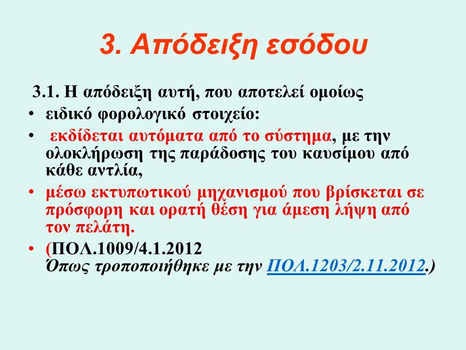 3.Απόδειξη εσόδου 3.1.