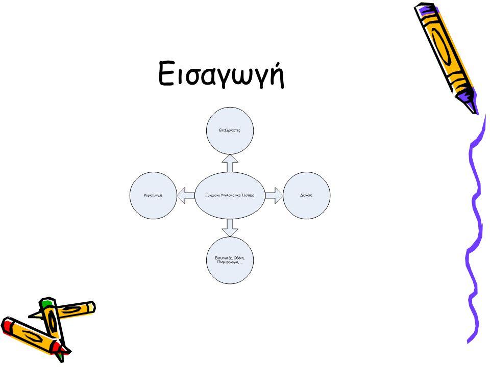 •Ένα υπολογιστικό σύστημα αποτελείται από διάφορα τμήματα •Είναι αναγκαίο να υπάρχει ένα κομμάτι λογισμικού με σκοπό τη διαχείριση όλων αυτών των τμημάτων και την παροχή προγραμμάτων χρήστη με απλούστερη σύνδεση με το υλικό •Αυτό το στρώμα λογισμικού ονομάζεται λειτουργικό σύστημα