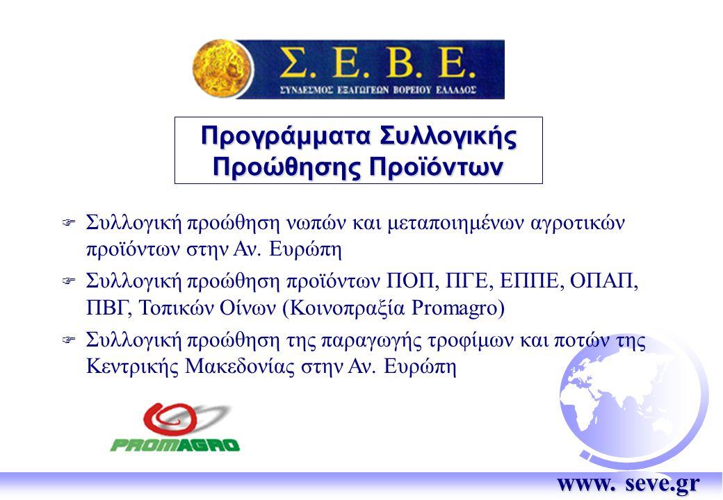 Προγράμματα Συλλογικής Προώθησης Προϊόντων F Συλλογική προώθηση νωπών και μεταποιημένων αγροτικών προϊόντων στην Αν.