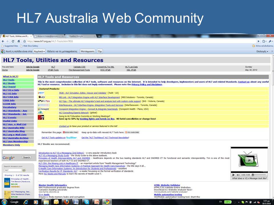 HL7 Australia Web Community