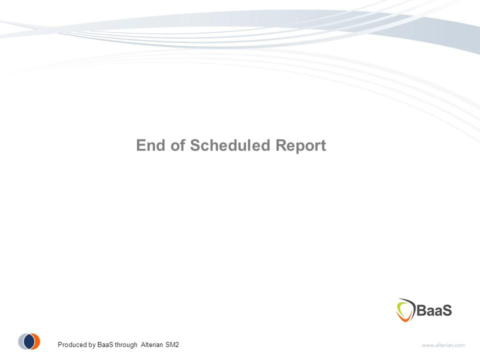 End of Scheduled Report Produced by BaaS through Alterian SM2