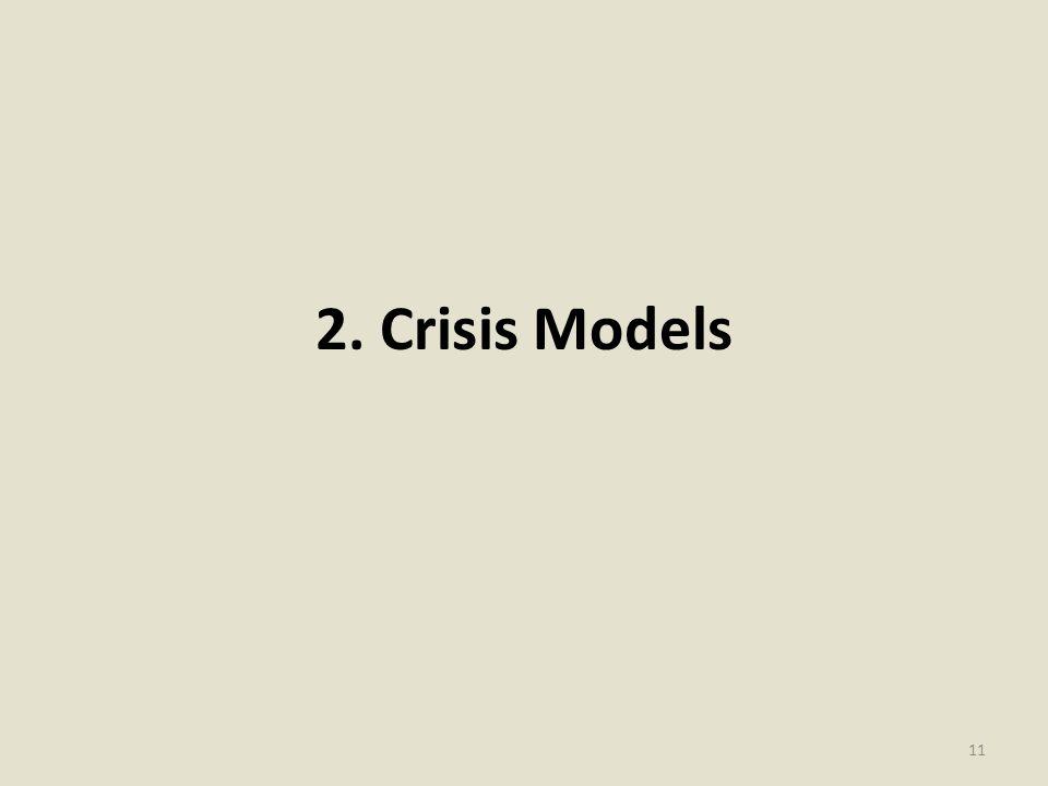 2. Crisis Models 11