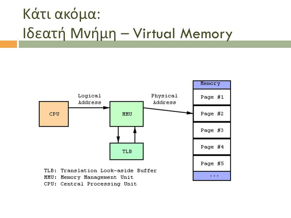 Κάτι ακόμα : Ιδεατή Μνήμη – Virtual Memory