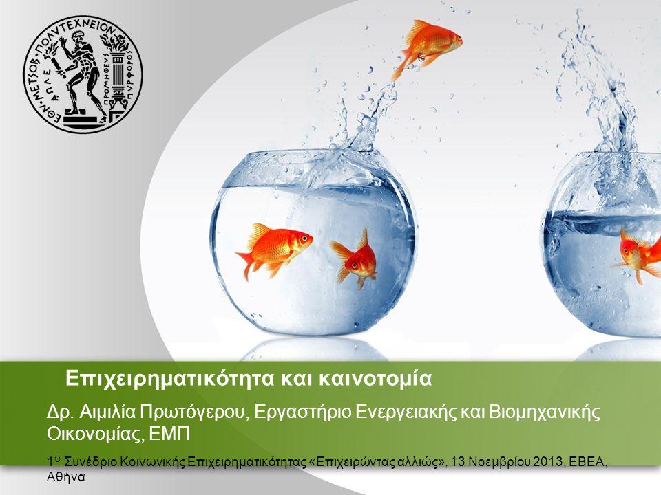 Επιχειρηματικότητα και καινοτομία Δρ.