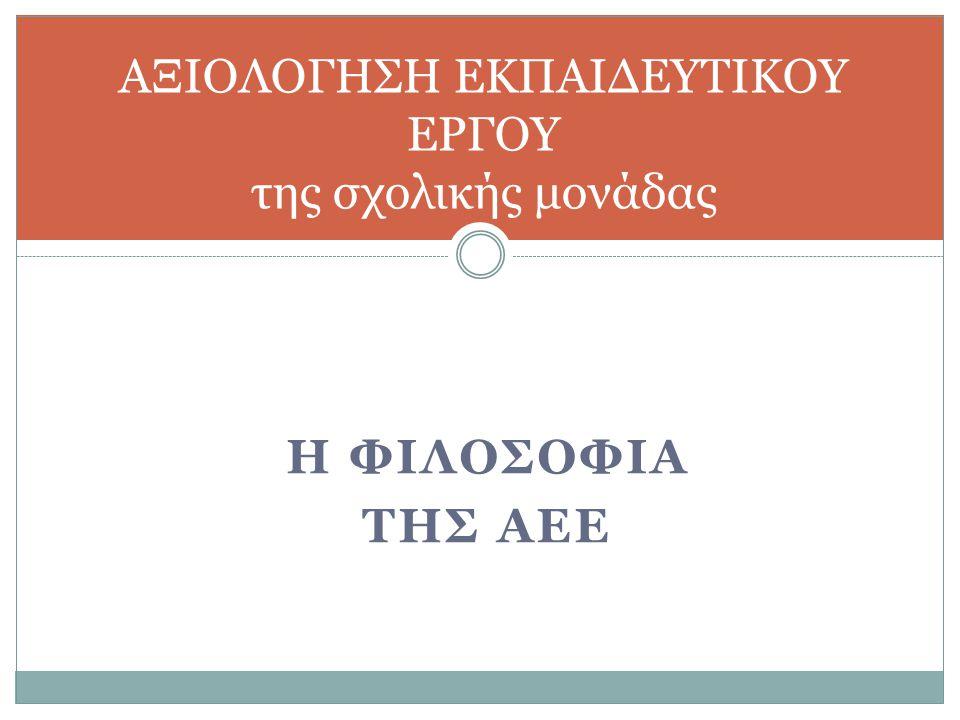 Αξιολόγηση δεικτών ποιότητας του εκπαιδευτικού έργου Α. Ε. Ε. - Ετήσια έκθεση αξιολόγησης