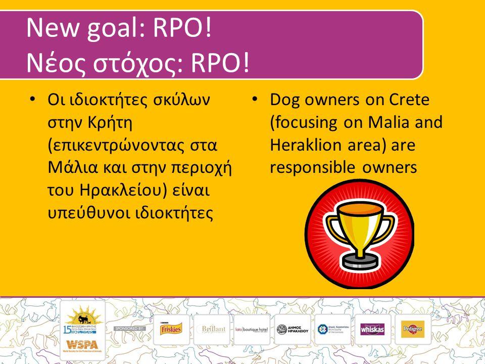 New goal: RPO. Νέος στόχος: RPO.