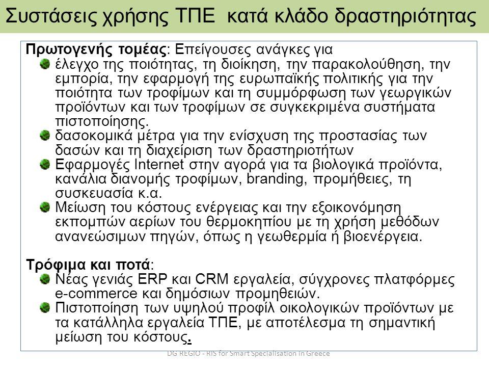 Πρωτογενής τομέας: Επείγουσες ανάγκες για έλεγχο της ποιότητας, τη διοίκηση, την παρακολούθηση, την εμπορία, την εφαρμογή της ευρωπαϊκής πολιτικής για