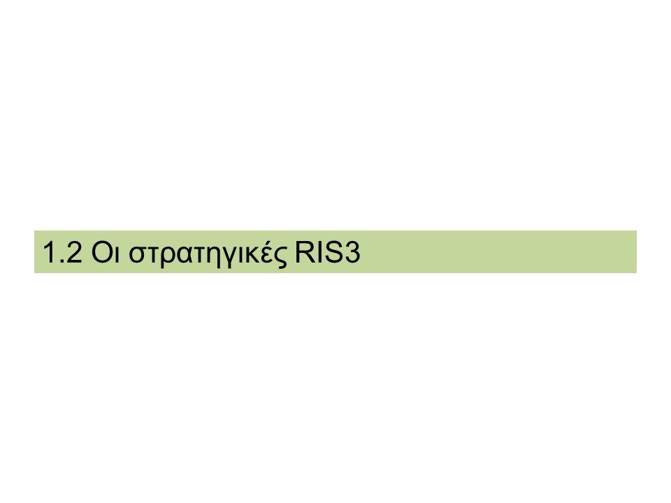DG REGIO - RIS for Smart Specialisation in Greece Συστάσεις: Clusters στην Ελλάδα Να εξετασθούν, στο πλαίσιο της στρατηγικής, τα κίνητρα για την ανάπτυξη των διακρατικών και διαπεριφερειακών συσπειρώσεων.