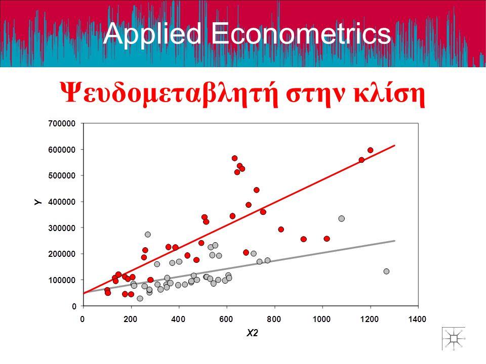 Applied Econometrics Ψευδομεταβλητή στην κλίση