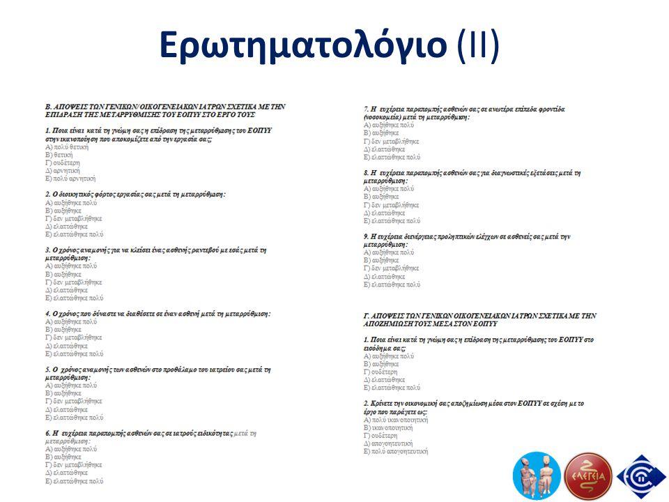 Ερωτηματολόγιο (II)