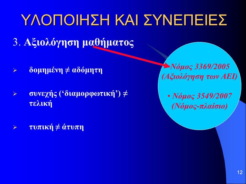 12 ΥΛΟΠΟΙΗΣΗ ΚΑΙ ΣΥΝΕΠΕΙΕΣ 3.