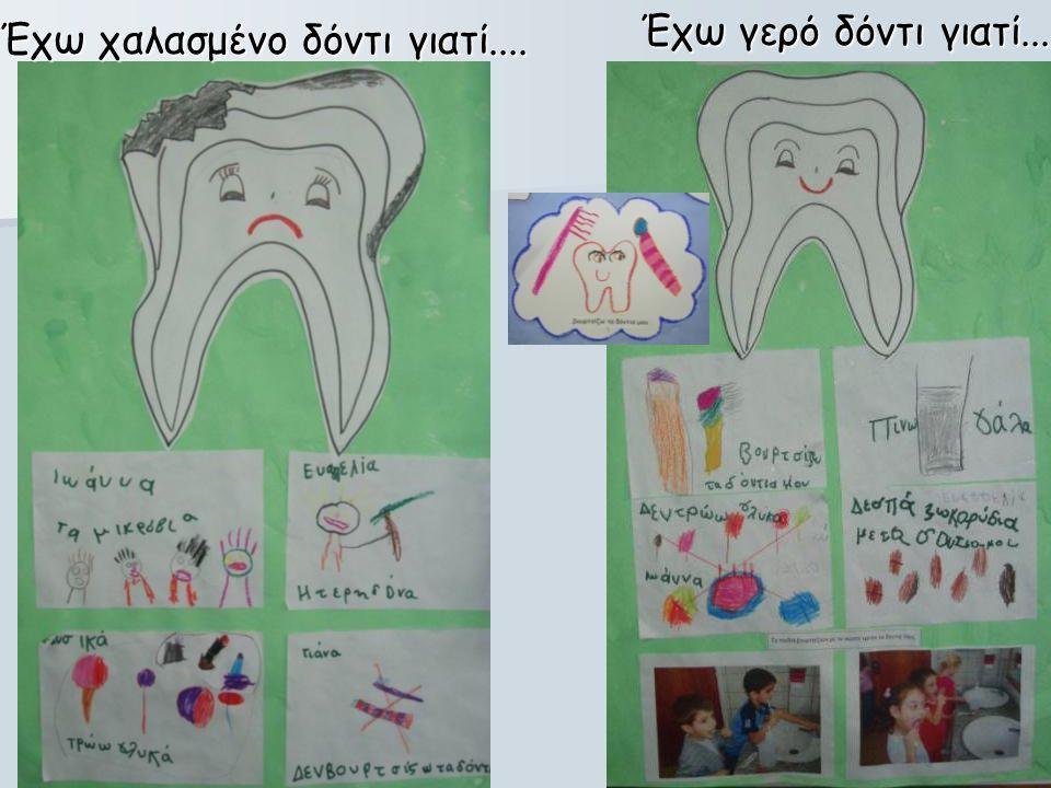 Έχω χαλασμένο δόντι γιατί.... Έχω γερό δόντι γιατί....
