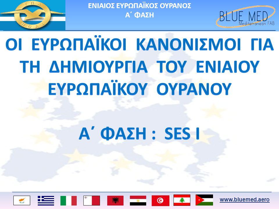 www.bluemed.aero Οι τομείς εργασίας της Φάσης Ορισμού κατανεμήθηκαν σε εννέα Ομάδες Εργασίας : 1.