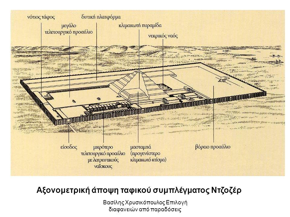 Βασίλης Χρυσικόπουλος Επιλογή διαφανειών από παραδόσεις Αξονομετρική άποψη ταφικού συμπλέγματος Ντζοζέρ