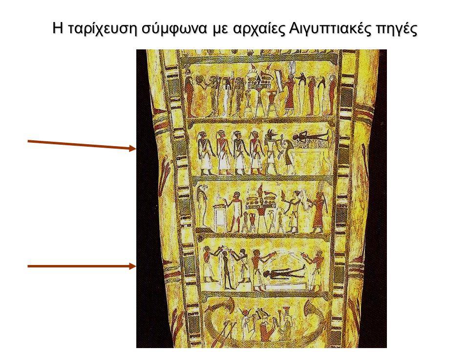 Βασίλης Χρυσικόπουλος Επιλογή διαφανειών από παραδόσεις Η ταρίχευση σύμφωνα με αρχαίες Αιγυπτιακές πηγές