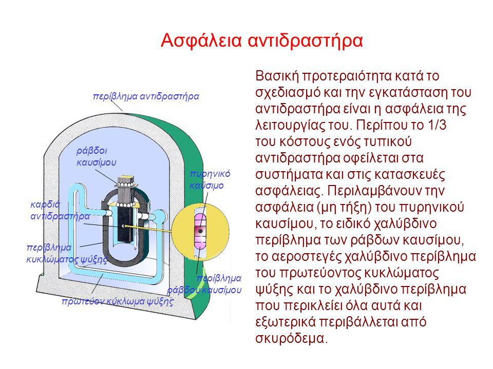 ΣΥΓΚΡΙΣΕΙΣ Θερμικός σταθμός ηλεκτροπαραγωγής ισχύος 1000 ΜW Πυρηνικός σταθμός ηλεκτροπαραγωγής ισχύος 1000 ΜW Κατανάλωση καυσίμου : 3 εκατ. τόνοι άνθρ