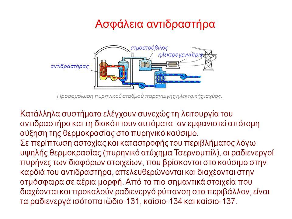 Ασφάλεια αντιδραστήρα Βασική προτεραιότητα κατά το σχεδιασμό και την εγκατάσταση του αντιδραστήρα είναι η ασφάλεια της λειτουργίας του. Περίπου το 1/3