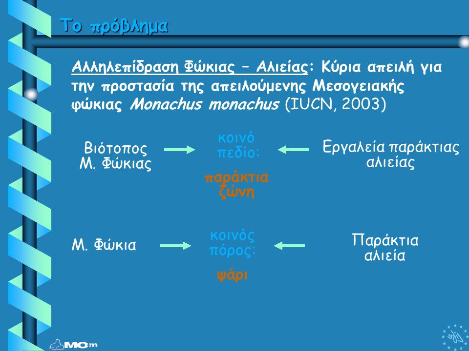 Το πρόβλημα Αλληλεπίδραση Φώκιας – Αλιείας: Κύρια απειλή για την προστασία της απειλούμενης Μεσογειακής φώκιας Monachus monachus (IUCN, 2003) κοινό πε