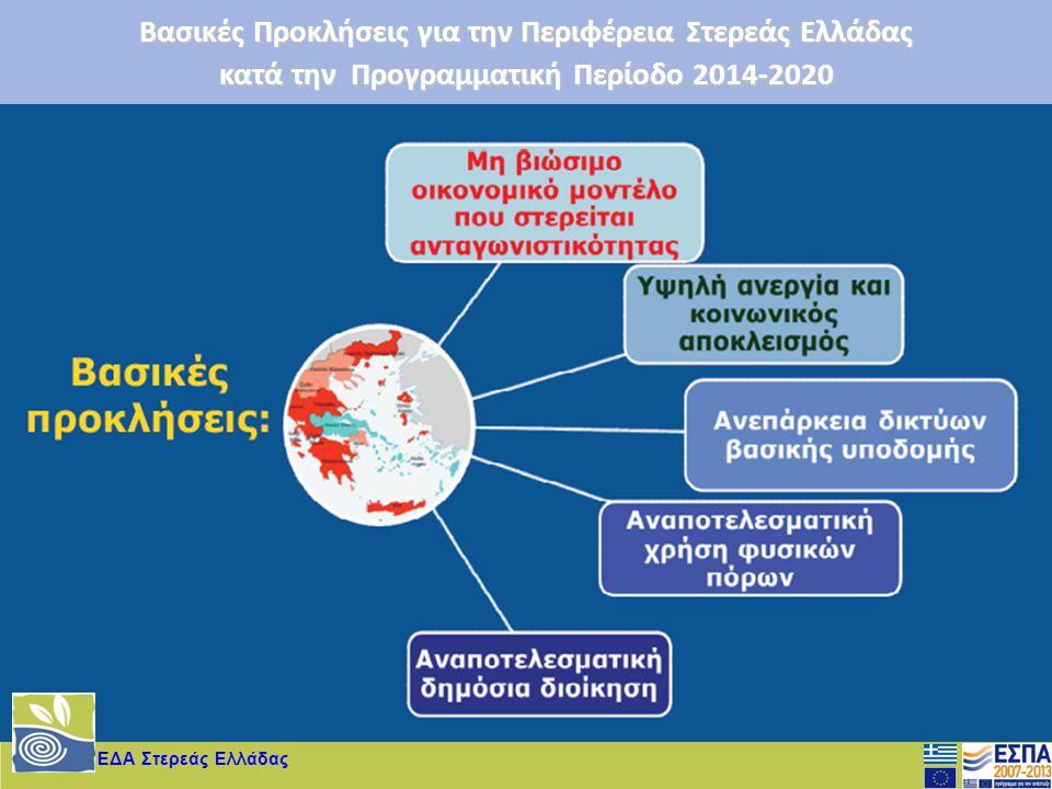 ΕΔΑ Στερεάς Ελλάδας Βασικές Προκλήσεις για την Περιφέρεια Στερεάς Ελλάδας κατά την Προγραμματική Περίοδο 2014-2020