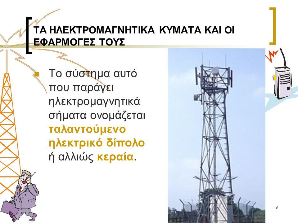 60  Η Ακτινοβολία από σταθμούς βάσης κινητής τηλεφωνίας  Σε περιοχές με μικρή χρήση κινητών τηλεφώνων ένας πομπός και μία συχνότητα εκπομπής.